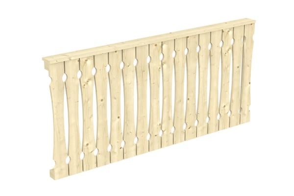 Seitenwand Balkonschalung Tiefe bis 239/250 cm Zubehör Terrassenüberdachung