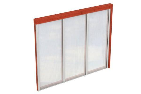 Seitenwand Polycarbonat Tiefe bis 289/300 cm Zubehör Terrassenüberdachung
