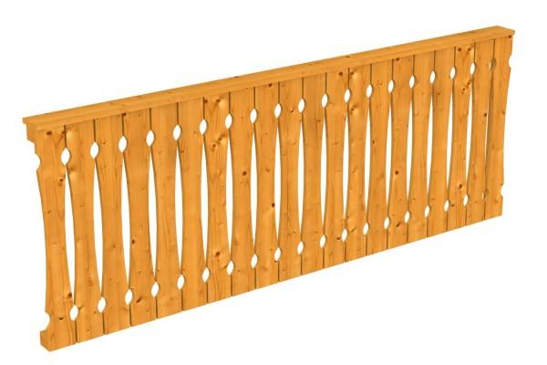 Seitenwand Balkonschalung Tiefe bis 289/300 cm Zubehör Terrassenüberdachung