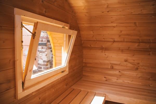 Zubehör Sauna Zusatzfenster zum Öffnen
