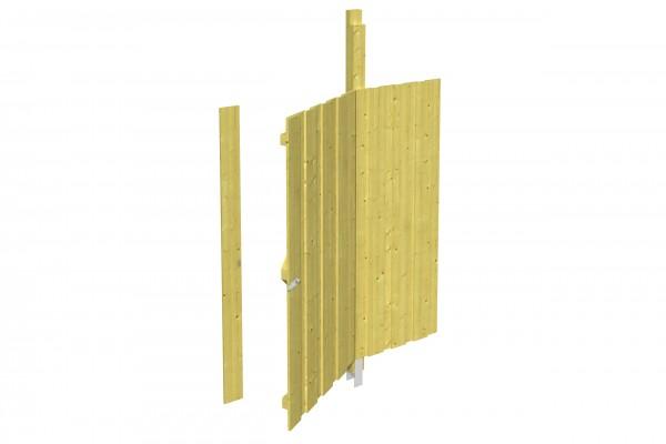 Spreewald / Sauerland 1-9 Zubehör Seitenwand mit Tür Größe 141x180