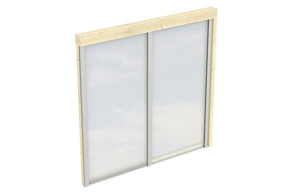 Seitenwand Polycarbonat Tiefe bis 239/250 cm Zubehör Terrassenüberdachung