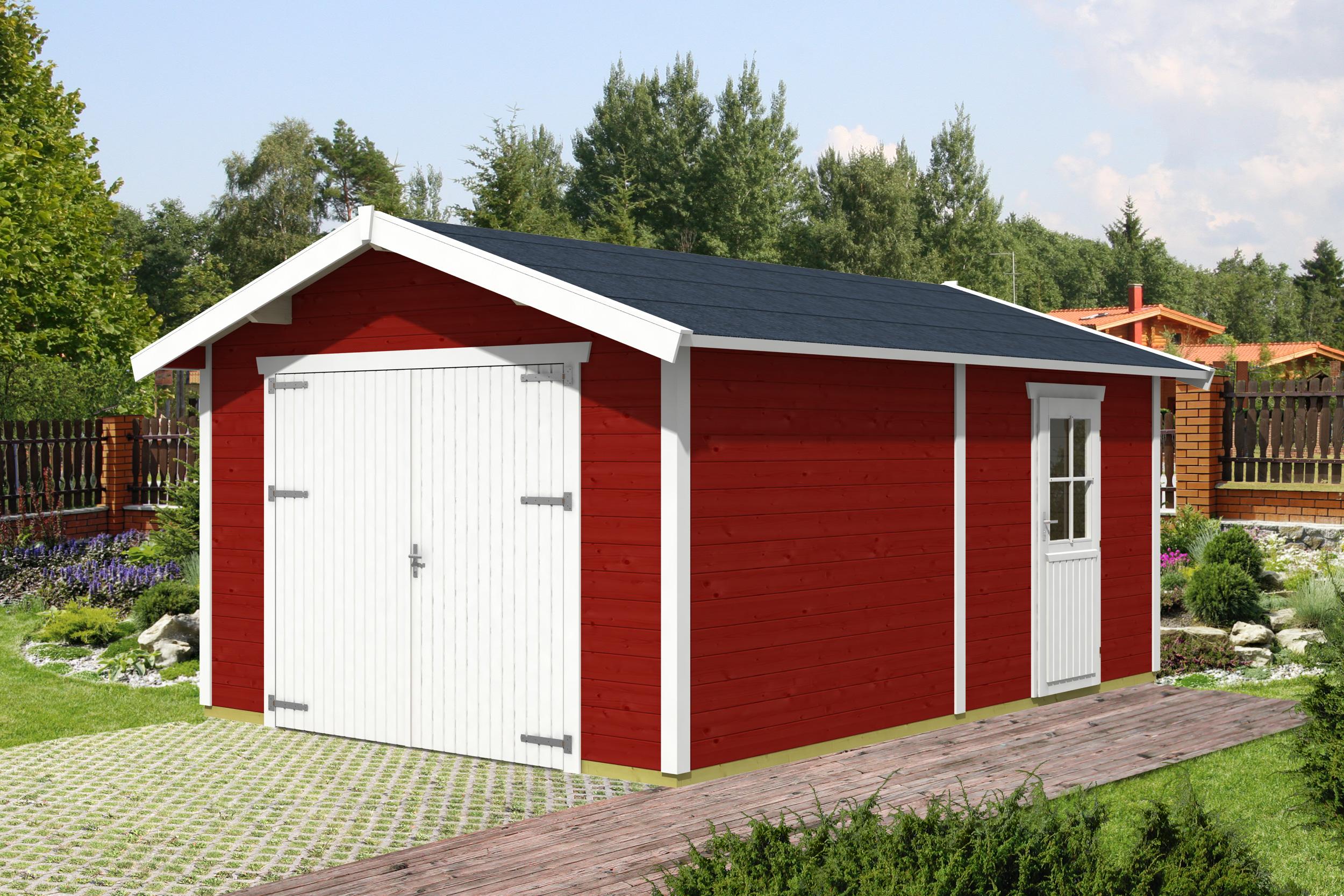 45 mm blockbohlen garagen skan holz. Black Bedroom Furniture Sets. Home Design Ideas