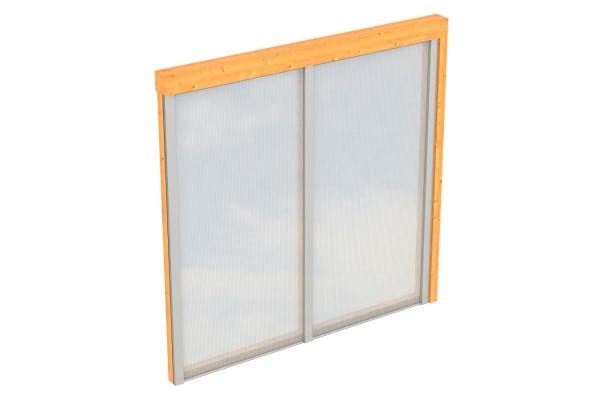 Seitenwand Polycarbonat Tiefe bis 250 cm Zubehör Terrassenüberdachung