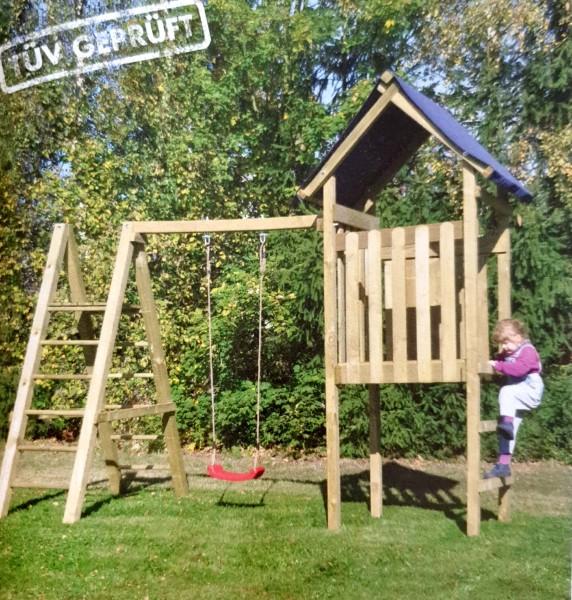 Reduziert: Spielturm mit Kletterschaukel Ronja