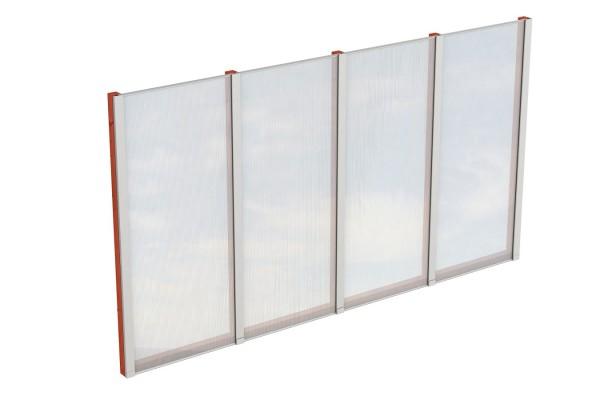 Seitenwand Polycarbonat Tiefe 400 cm Zubehör Terrassenüberdachung freistehend