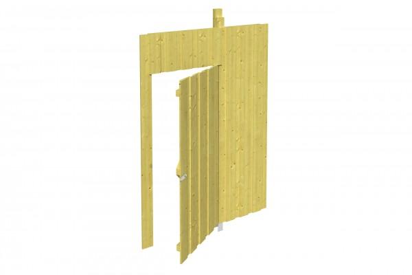 Spreewald / Sauerland 1-9 Zubehör Seitenwand mit Tür Größe 141x220