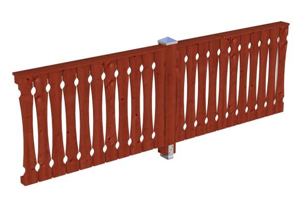 Seitenwand Balkonschalung Tiefe bis 339/350 cm Zubehör Terrassenüberdachung