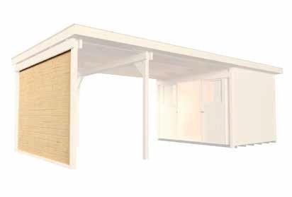 Seitenwand für Anbauten 295 cm für Designhaus 126, 172 und Gartenhaus 225 Zubehör Gartenhaus Flach