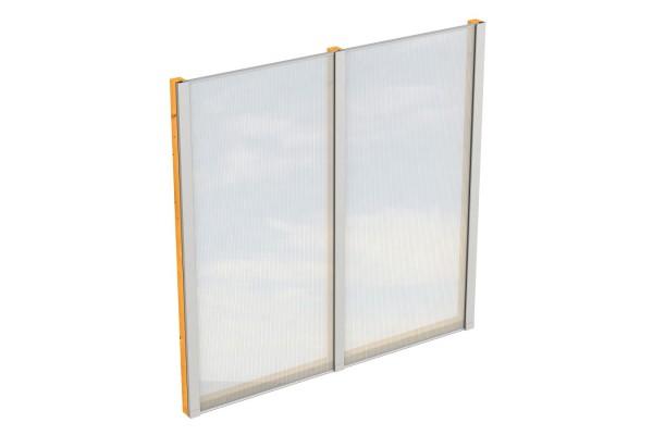 Seitenwand Polycarbonat Tiefe 250 cm Zubehör Terrassenüberdachung freistehend