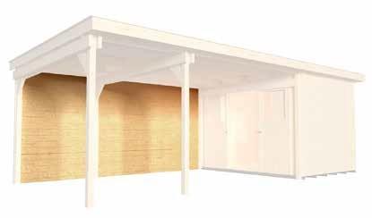 Rückwand für Anbauten 295 cm für Designhaus 172 WekaLine Zubehör Gartenhaus Flachdach