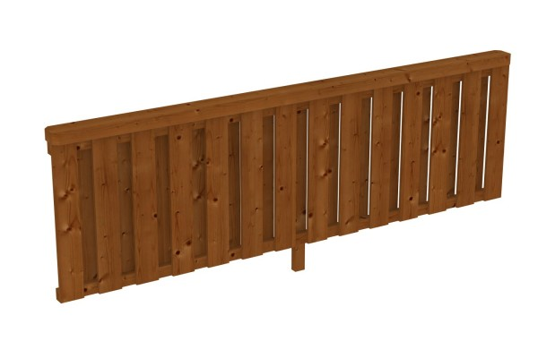 Brüstung Deckelschalung Pfostenabstand 270 cm Zubehör Terrassenüberdachung