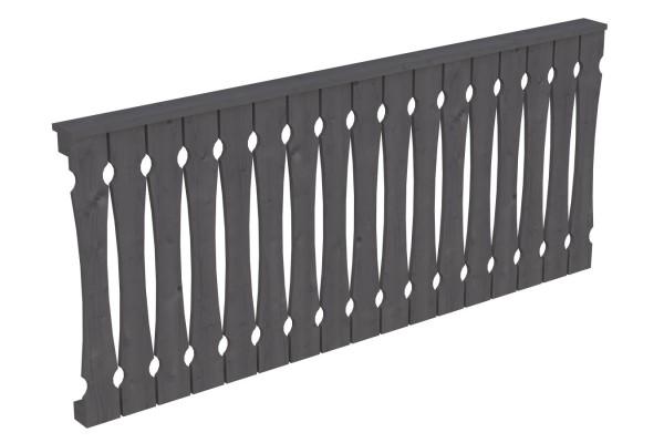 Brüstung für die Front Balkonschalung Pfostenabstand 220 cm Zubehör Terrassenüberdachung