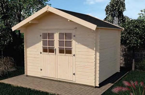 Gartenhaus 209 Größe 2,5 250x300