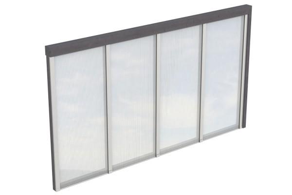 Seitenwand Polycarbonat Tiefe bis 389/400 cm Zubehör Terrassenüberdachung