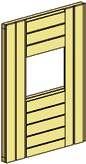 Wand mit Fenster Zubehör Spielburg Arthur