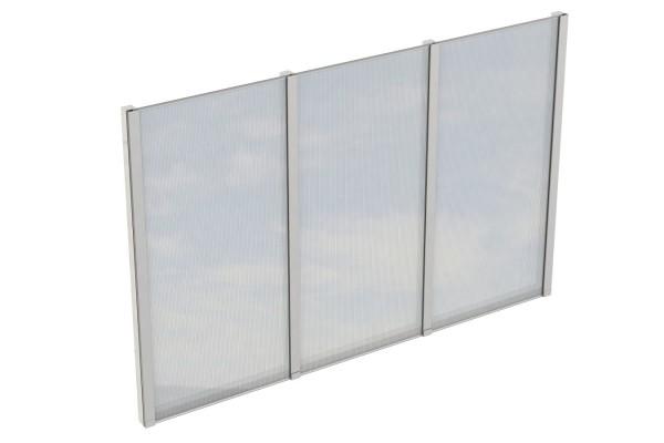 Seitenwand Polycarbonat Tiefe 350 cm Zubehör Terrassenüberdachung freistehend