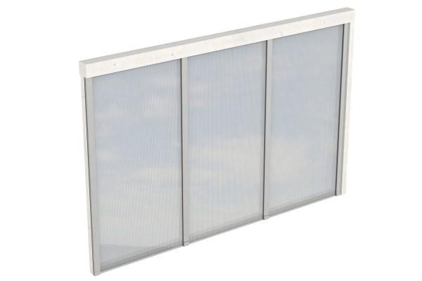 Seitenwand Polycarbonat Tiefe bis 339/350 cm Zubehör Terrassenüberdachung