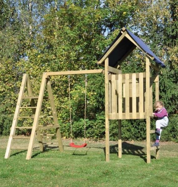 Spielturm mit Kletterschaukel Ronja