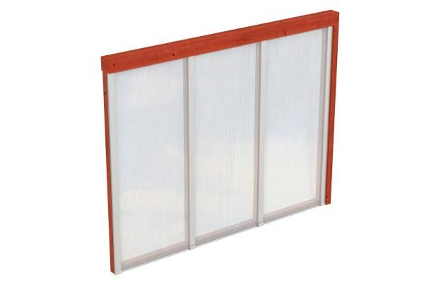 Seitenwand Polycarbonat Tiefe bis 300 cm Zubehör Terrassenüberdachung