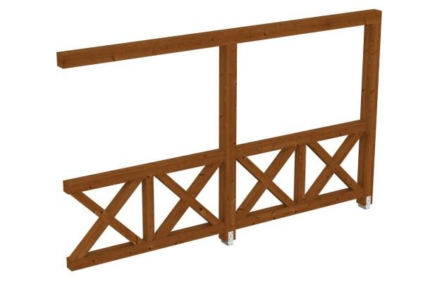 Seitenwand Andreaskreuz Tiefe bis 389/400 cm Zubehör Terrassenüberdachung