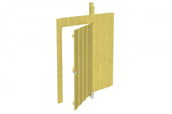 Spreewald / Sauerland 1-9 Zubehör Seitenwand mit Tür Größe 141x200